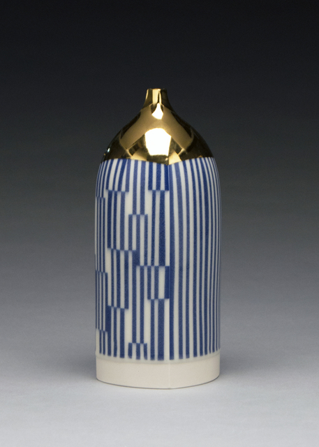 , 'Blue and Gold Bottle,' 2019, Duane Reed Gallery