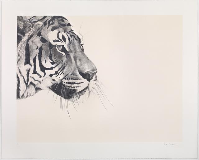 , 'Glitter Tiger on cream Silkscreen,' , Sladmore