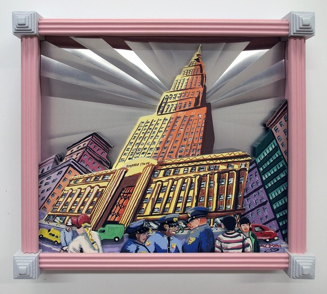 Red Grooms, 'Empire State Building', 1997, Approximately Blue