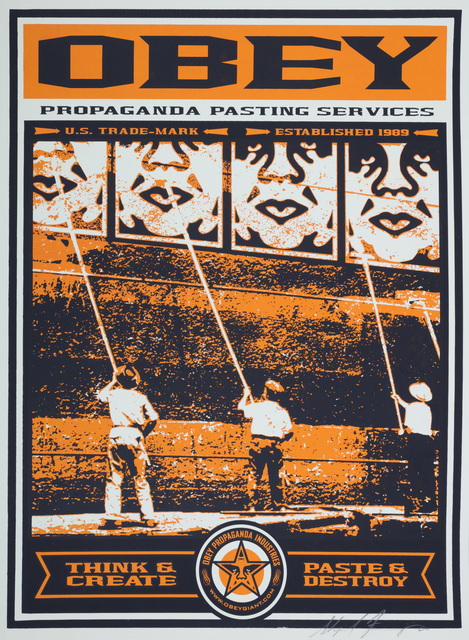 Shepard Fairey, 'Obey Propaganda Pasting Services', 2000, Chiswick Auctions