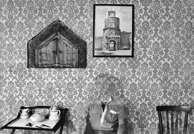 """, 'Self-portrait from serie """"Interni mossi, Barbarano Romano 1978-79"""",' 1996, MLB Home Gallery"""
