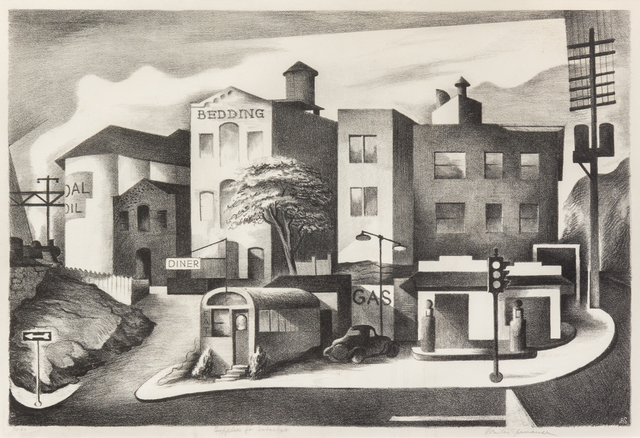 Benton Spruance, 'Supplies for Suburbia', 1938, Print, Lithograph, Hindman