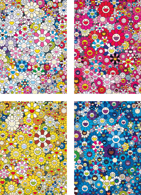 Takashi Murakami, 'An Homage to Yves Klein, Multicolor C; An Homage to Monopink 1960 C; An Homage to Monogold 1960 C; and An Homage to IKB 1957 C', 2012, Phillips