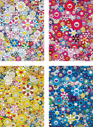 Takashi Murakami, 'An Homage to Yves Klein, Multicolor C; An Homage to Monopink 1960 C; An Homage to Monogold 1960 C; and An Homage to IKB 1957 C,' 2012, Phillips: Evening and Day Editions