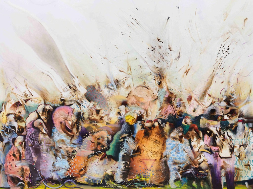 Ali Banisadr, The Game of Taming, 2018, Courtesy the artist and Blain Southern