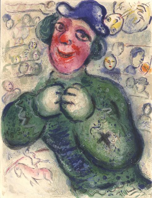 Marc Chagall, 'The green Clown', 1967, Galerie Fetzer