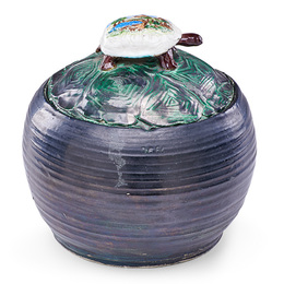 Clay Pot with Turtle on Lid, California