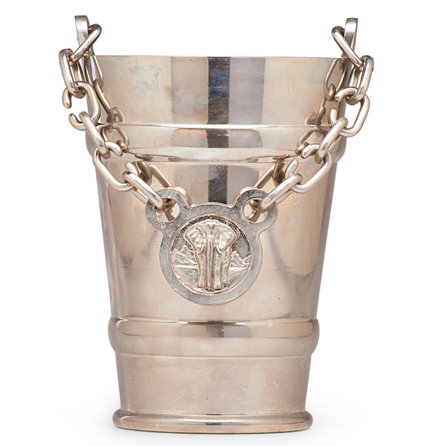 Nynke Tynagel, 'Custom Ice Bucket With Elephant Medallion, Belgium', 2007, Design/Decorative Art, Pewter, Silver, Rago/Wright