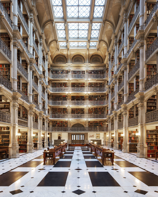 , 'George Peabody Library, Baltimore,' 2017, Undercurrent Projects