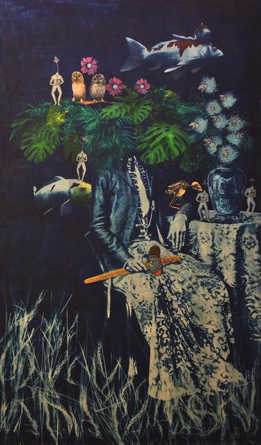 , 'Eastern Fortune (deep blue mirror series),' 2019, Mizuma Art Gallery