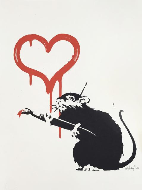 Banksy, 'Love Rat', 2004, Tate Ward Auctions