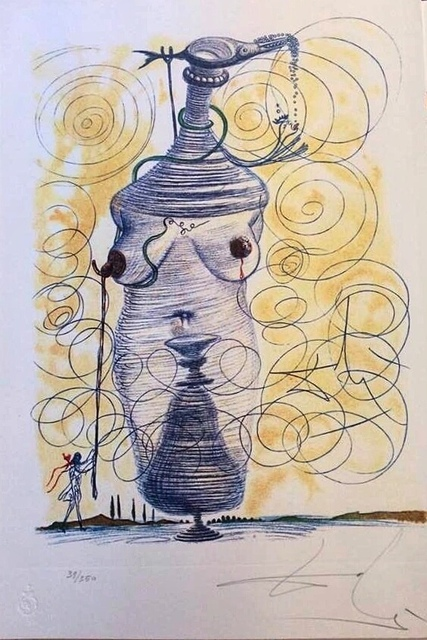 Salvador Dalí, 'Casanova Table 11', 1980, Drawing, Collage or other Work on Paper, Colored etching, Deodato Arte
