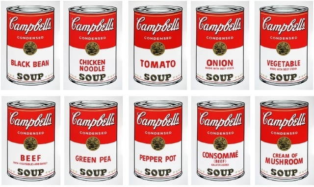 Andy Warhol, 'Soup cans (Sunday B Morning Portfolio of 10)', 1980, Fine Art Auctions Miami