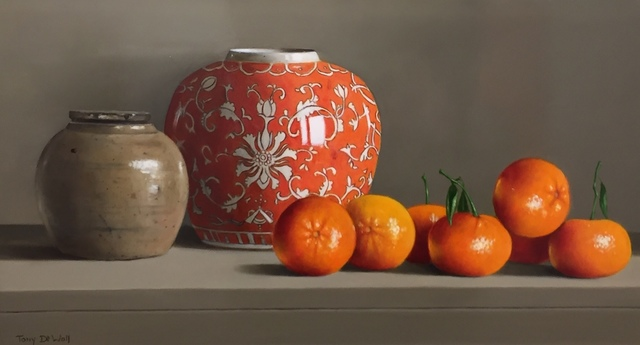 , 'Asian Ginger Jars and Fruit ,' 2018, Thompson's Galleries