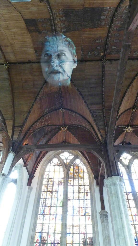 Tony Oursler, 'I/O underflow,' , Oude Kerk