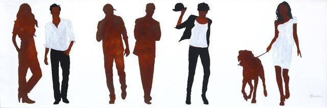 Gerhard Völkle, 'City People', 2018, Painting, Rust Paint, Mixed Media on Canvas, Artspace Warehouse