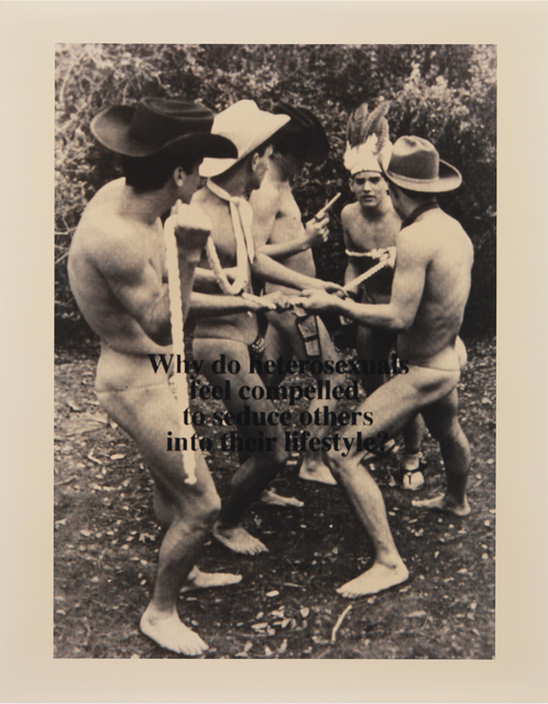 Carlos Gutierrez-Solana, 'Lifestyle (Cowboys & Indians)', 1994, Visual AIDS Benefit Auction