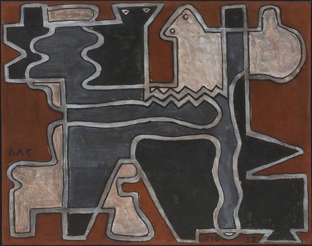 , 'Formas entrelazadas en rojo,' 1938, Cecilia de Torres, Ltd.