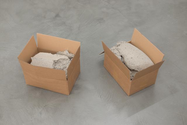 , 'Cartons pierres,' 2016, Galerie Jocelyn Wolff