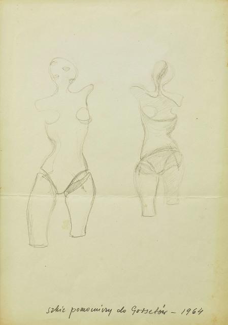 """, 'Sketch for """"Corsets"""" (Gorsety),' 1964, Dawid Radziszewski"""
