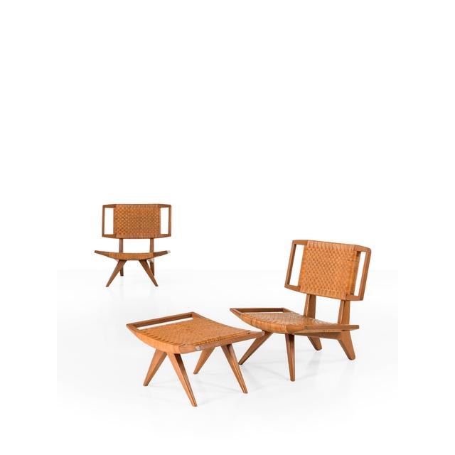 Paul Laszlo, 'Pair Of Fireside Chairs And An Ottoman', 1958, PIASA