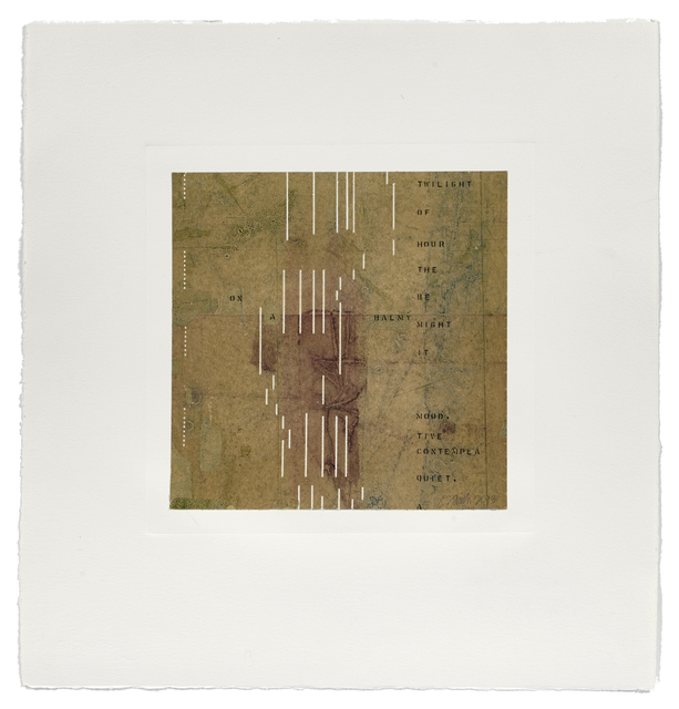 Catherine Farish, 'Notation / Balmy Night', 2013, Atelier-Galerie A.Piroir