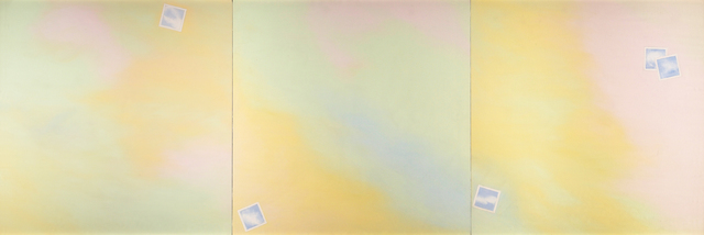 , 'Cloud-Photograph Triptych,' 1969, Barbara Mathes Gallery