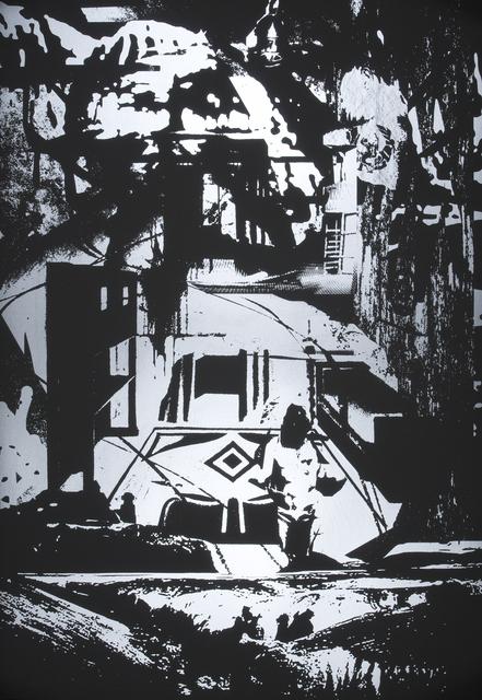 Santiago Cucullu, 'Stasiaphrodite', 2009, Print, Screenprint on Black Plike, Highpoint Editions