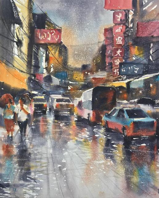Attasit Pokpong, 'Walking in the Rain II', 2006, MLA Gallery