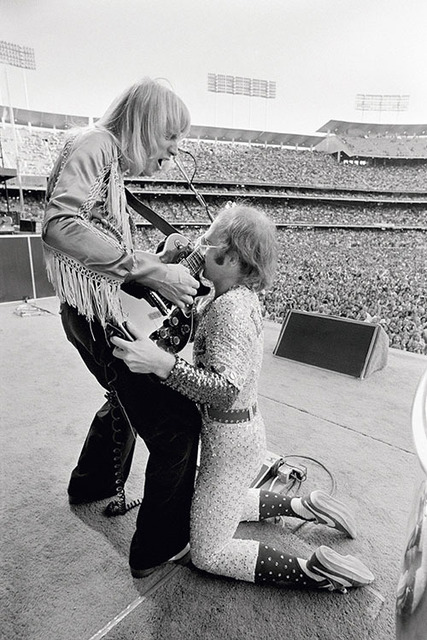 , 'Elton John Dodger Stadium, with guitarist Davey Johnstone,' 1975, Mouche Gallery
