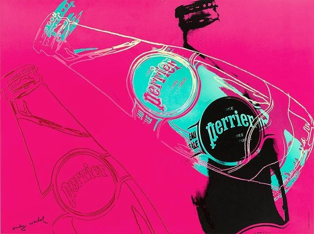 Andy Warhol, 'Perrier (Pink)', 1983, Reproduction, Offset lithograph, EHC Fine Art