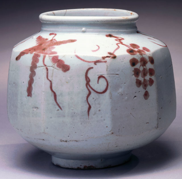 , 'Faceted Jar with Grapevine Motif ,' 1392, Newark Museum