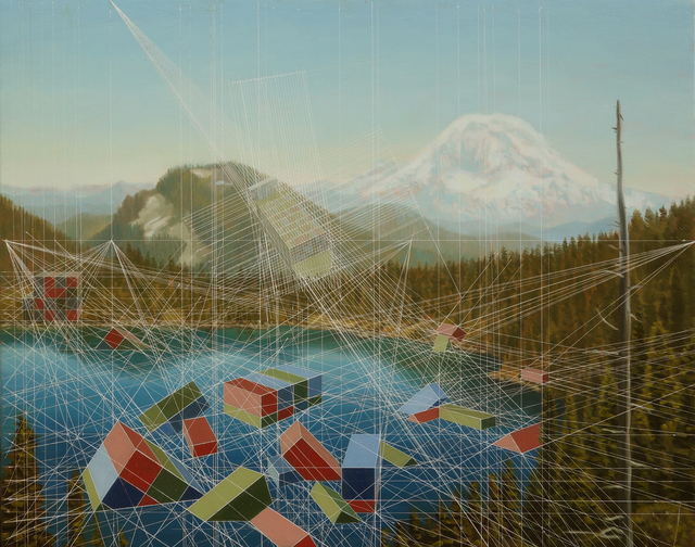 Mary Iverson, 'Calamity at Summit Lake (Mount Rainier)', 2019, Painting, Oil on canvas, Hashimoto Contemporary