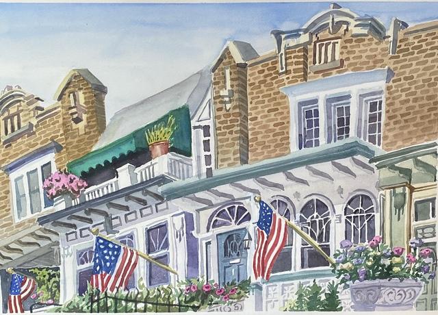 Susan Greenstein, 'Windsor Place', 2020, Painting, Watercolor, 440 Gallery