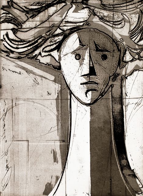 Isaac Kahn, 'Head Of A Woman', 2014, Print, Etching, Blue Gallery