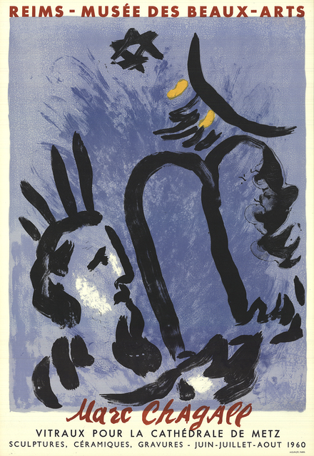 Marc Chagall, 'Moses and the Tablets', 1960, Print, Color Lithograph, ArtWise