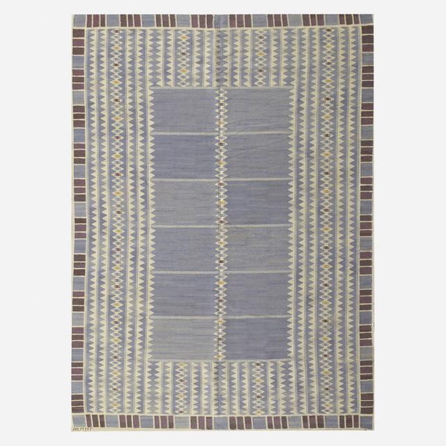 Barbro Nilsson, 'Salerno flatweave carpet', 1948, Textile Arts, Hand-woven wool, Rago/Wright