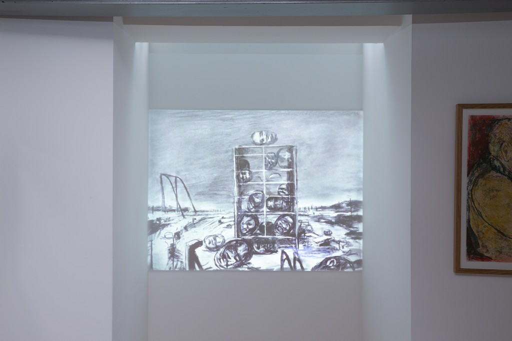 Gallery installation, William Kentridge, Drawings for Projection, Creative Fury (photography by Danny Loo)