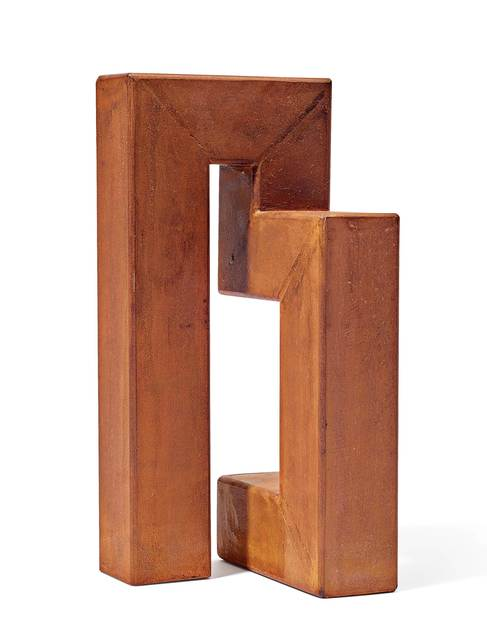 James Licini, 'Stahlbau', 1998, Sculpture, Steel tube hollow profile, welded and covered with rust patina, Koller Auctions