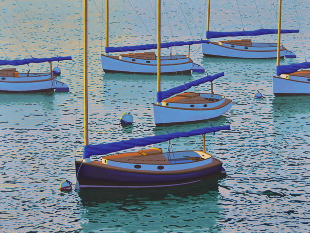", '""Cats"" Sailboats in Blue Ocean, Calm Quiet Seascape,' 2010-2018, Eisenhauer Gallery"