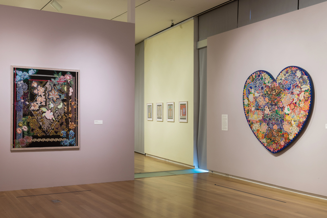 Installation view of 'Surface/Depth: The Decorative After Miriam Schapiro'