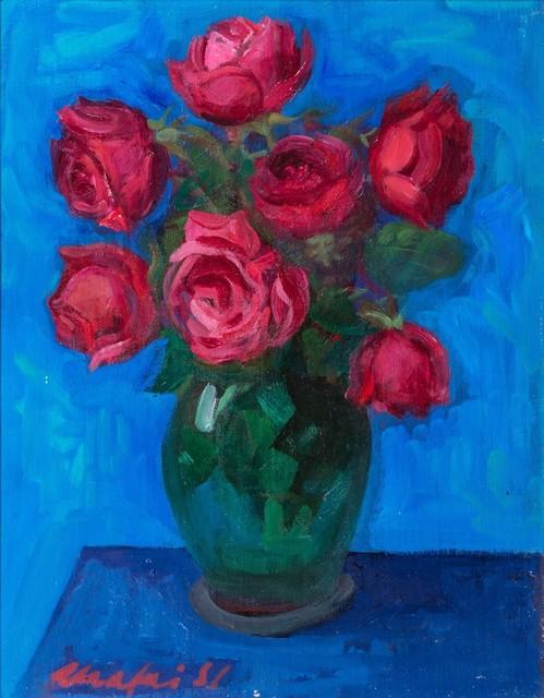 Mario Mafai, 'Rose in the canvas', 1957, Finarte