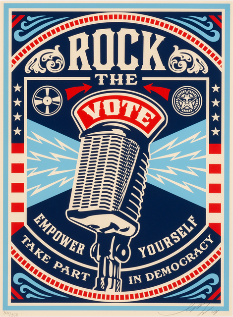 Shepard Fairey (OBEY), 'Rock The Vote', 2008, Doyle