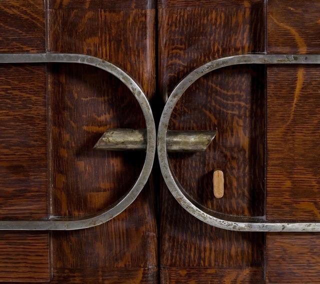 Charles Dudouyt, 'Cabinet', ca. 1940, Design/Decorative Art, Polished oak, iron, Maison Gerard