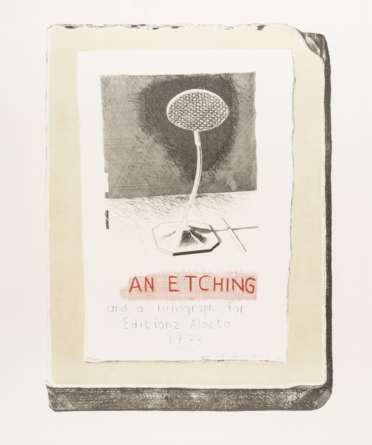 After David Hockney, 'An Etching and a Lithograph for Edition Alecto 1973', 1973, Forum Auctions