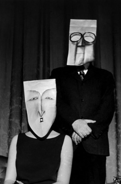 , 'USA. New York, NY. Masked couple. Saul Steinberg mask series. ,' 1961, °CLAIR Galerie