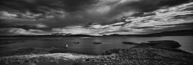 Cody S. Brothers, 'Black & White, Panoramic Photography: 'Lake Mead, NV'', 2018, Photography, Black & White Digital Chromogenic Print, Laminate, Black wood float frame, Ivy Brown Gallery