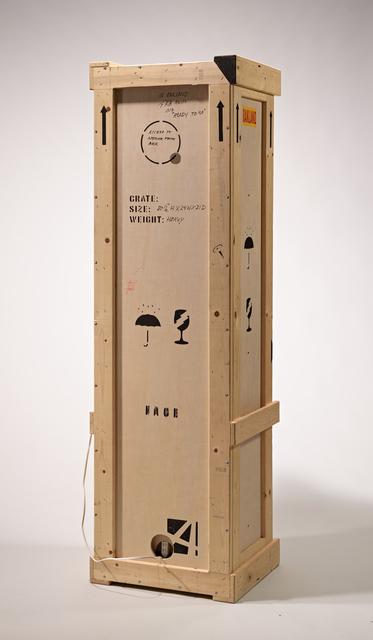 Garry Knox Bennett, 'Ready to Go', 2013, Design/Decorative Art, Honduras rosewood, packing crate, lamp parts, clock parts, cast bronze handles, Gallery NAGA