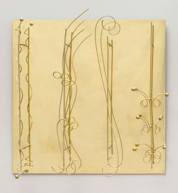 Fausto Melotti, 'Senza titolo', ca. 1973, Sculpture, Brass relief, Barbara Mathes Gallery