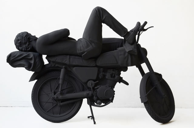 ", 'Le motorcycliste endormi (From the series ""Sculptures anonymes""),' 2011, Odile Ouizeman"
